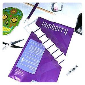 Jamberry nail wrap White tip short clear